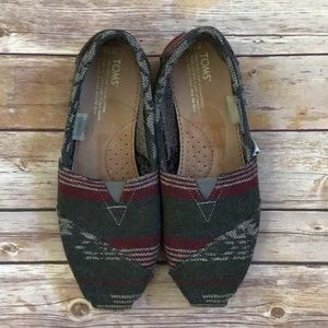{Toms} Gray Wool-Look Slip On Shoes Size 7.5
